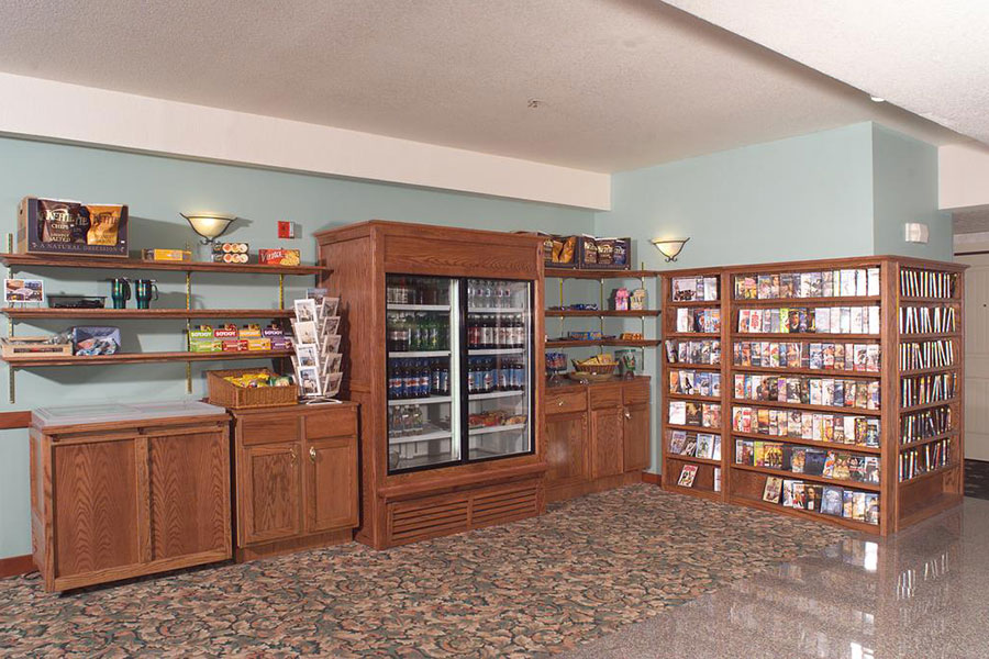 mini mart with DVD collection at The Ashley Inn & Suites